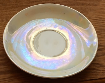 "New Listing....Beautiful "" LUSTER "" 6 Inch SAUCER...Unmarked...Many Uses....1960s Vintage"