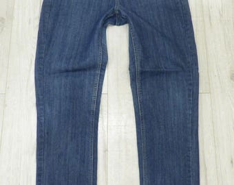 Women's Vintage M.A.P.P. Haigh Waist Blue Stretch Skinny Jeans Size W30 L31