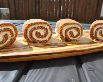 Mini Pumpkin Rolls Recipe Pdf Jpg -Thanksgiving Recipe, Holiday Recipe, Pumpkin Recipe, Roulade Cake Recipe, Autumn Baking