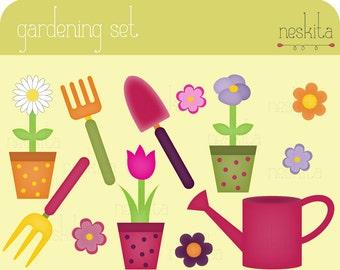 Clip art set - Gardening