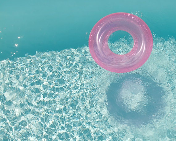 Swimming Pool Photography Summer Print Water Art Ripples