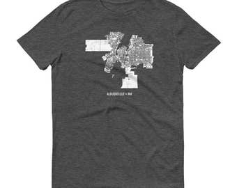 Albuquerque Shirt, Albuquerque NM, Albuquerque TShirt, Albuquerque Gift, Albuquerque Map, Albuquerque Tee, New Mexico Shirt, New Mexico Map