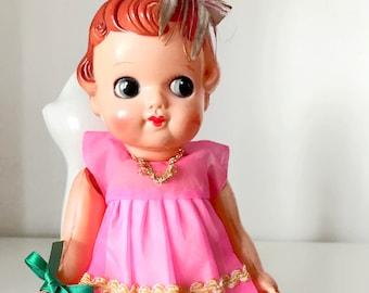 Vintage Celluloid doll japan pretty girl