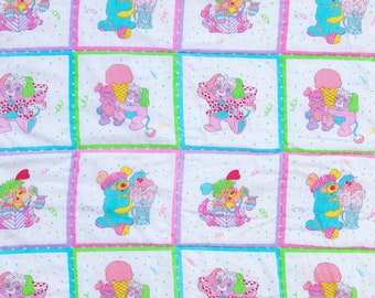 VERY RARE 80s Popples Crib Quilt Blanket