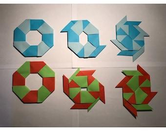 Origami Ninja Stars (5 pieces-optional colour), Transforming Ninja Stars, Paper Ninja Stars, Birthday Games for kids, Transformers Decor