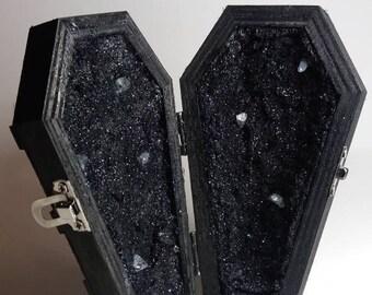 Solid Black Coffin Geode