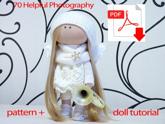 Textile doll tutorial PDF Digital Pattern Sewing Patterns