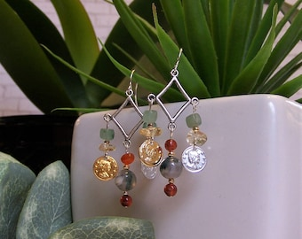 Wealth Gemstone Earrings * Abundance * Prosperity