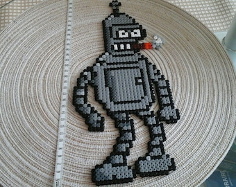 Bender wringer Rodriguez. Futurama. pixel art