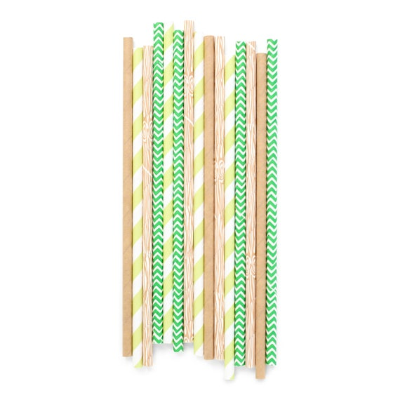 Forest Fancy Straw, Paper Straw, Green Straw, Boy Baby Shower, Boy Birthday, Table Decor, Woodland Decor, Rustic Decor, Woodsy, Outdoors