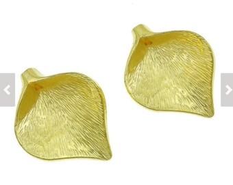 Pendant - Calla Lily Pendant - Calla Lily Bead - Lily - Gold Pendant - Gold Lily Pendant - Gold - 2pcs