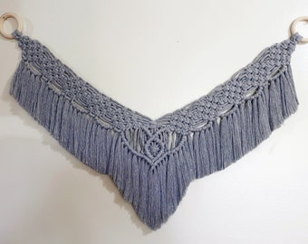 Ardene in Gray // Macrame Wall Hanging // Medium Tapestry // Unique Handmade Gifts // READY TO SHIP