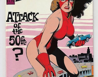 FemForce 5 VFNM Bill Black Attack of the 50 Foot Woman 1986 Copper Age Americomics AC Comics Book Christmas Birthday Gift for Him Her