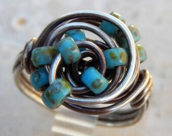 Sterling Silver Orbit ring