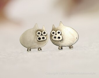 PIGLET Sterling Silver Stud Earrings Mini Zoo