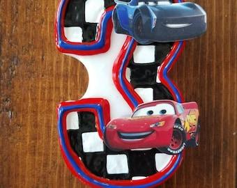 Lightning McQueen Birthday Candle, Cars Birthday, Jackson Storm birthday