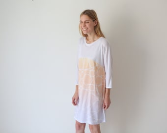 Tunic dress, batwing dress, shift dress, casual dress