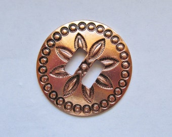 "1 1/2"" Antique Copper slotted concho  #concho31"