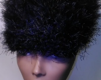 Black Fur Cap