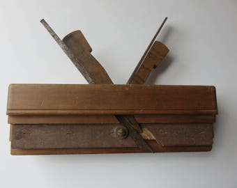 Old Double Bouvet Planer with Genuine Cormier Molding