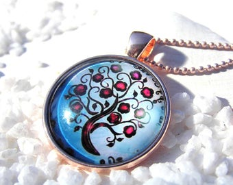 Necklace tree of life tree of life tree rose