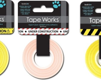 TapeWorks Washi Tape - CAUTION, Under Construction or Keep Out 50 Feet | Scrapbook | Paper Crafting