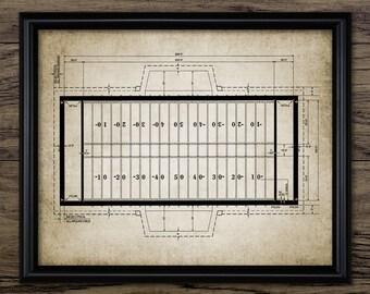 Vintage Football Field Print
