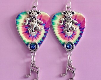 "Guitar Pick Earrings ""Playing In The Band"""