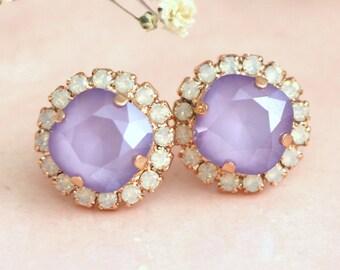 Purple Earrings, Lavender Earrings, Bridal Lavender Earrings, Bridal Lilac Earrings, Bridesmaids Earrings, Gift For Her, Lavender Studs