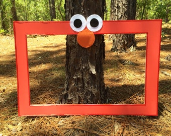 Elmo inspired photo prop frame