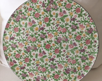 Vintage Chintz Cake Plate ~ Made in Japan