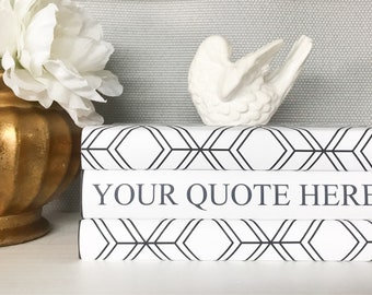 Black and White Custom Quote Books