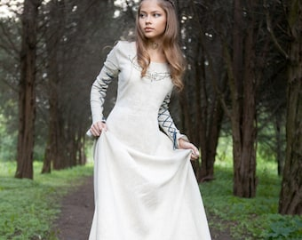 "16% DISCOUNT! Medieval Linen Dress ""Fairy Tale"""