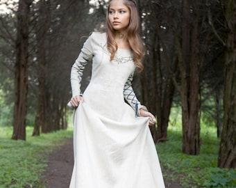 "Medieval Linen Dress ""Fairy Tale"""