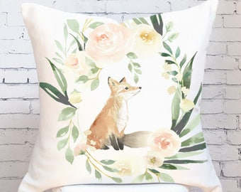 Pillow Cover Floral Spring Fox