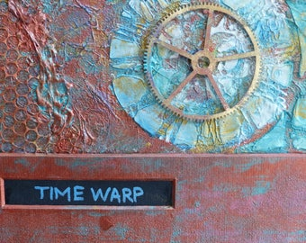 ART SALE: Time Warp Mixed Media Art