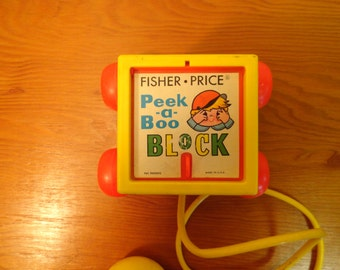 FIsher Price Peek-A-Boo Block