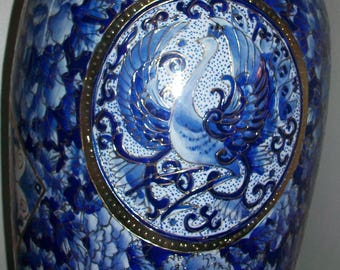 """Listing 135 is a Chinese floor vase 32""""H x 8""""W"""