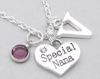 Special Nana monogram initial necklace | nana pendant | personalised nana necklace | nana jewelry | special nana gift