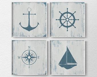 Nautical Decor, Nautical Nursery, Nautical Wall Art, Rustic Nautical Print, Beach House Art, Nautical Art, Nautical Bathroom Art, 0464