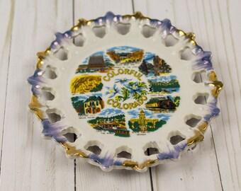 Vintage Colorado State Souvenir Kitschy Plate