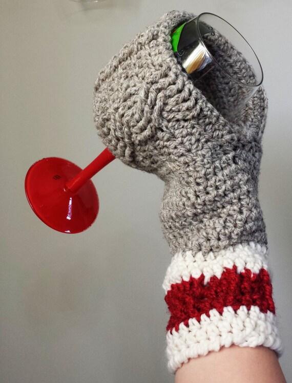 Wine Glass Beverage Mitten Crochet Mitt Pattern Drink Beer Coffee