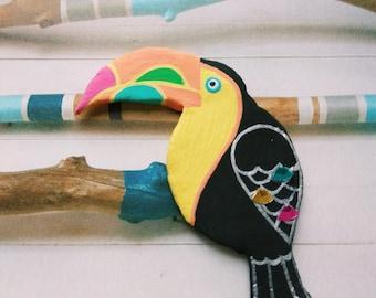 Brooch Toucan, bird brooch, brooch pin, tropical bird