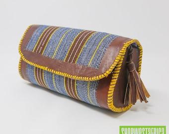 Batakari Leather Clutch