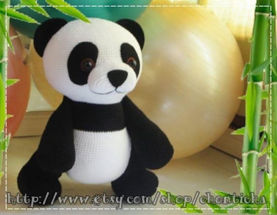 Amigurumi Panda Bear Crochet Pattern : Giant panda inches pdf amigurumi crochet pattern