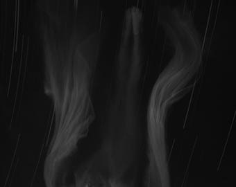 Falling - Immersion Series,  black and white photo, whimsical art, stars, conceptual fine art print
