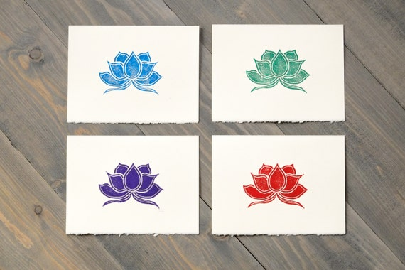 lotus art colorful cards lotus flower cards gift for mom