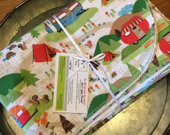 Gender neutral camping XL receiving blanket.  Ready to ship.