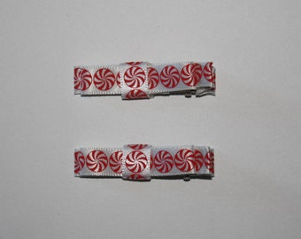 Pair of Starlight Mint 2 Prong Hair Clips