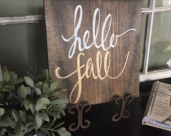 Hello Fall Wood Sign, Gold Fall Decor, Fall Pallet Art, Rustic Fall Decor, Personalized Pallet Art, Happy Fall Ya'll, Gold Decor, Fall Quote